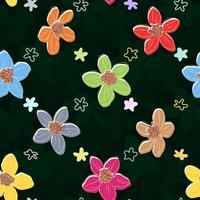 Élément floral sur fond transparent foncé. vecteur