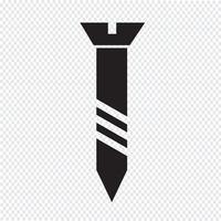 symbole d'icône de vis Illustration