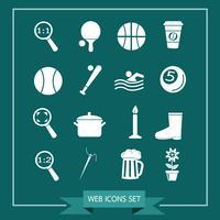 Ensemble d'icônes web pour site Web et communication vecteur