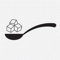 signe de symbole icône sucre vecteur
