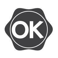 Signe de symbole bouton OK vecteur