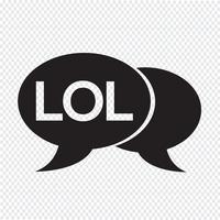 illustration de bulle de chat acronyme internet vecteur