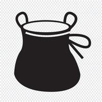 Craie Sac montée icône design Illustration