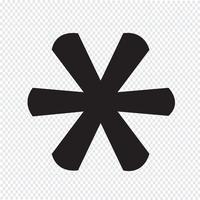 Icône de signe de note de bas de page astérisque