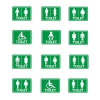Jeu d'icônes de signe de toilettes vecteur