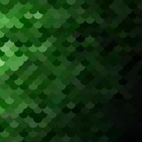 Motif de tuiles de toit vert, modèles de conception créative vecteur