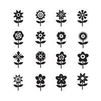 Flower Icon Set pour site Web