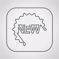 Nouveau signe de symbole d'icône vecteur