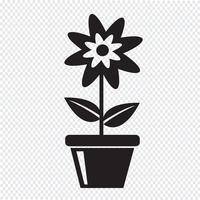 signe de symbole icône fleur