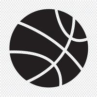 Signe de symbole icône basket