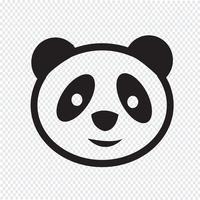 signe de symbole icône panda