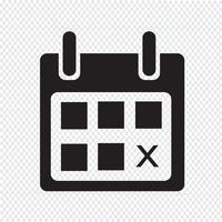 signe de symbole icône calendrier vecteur