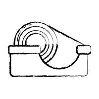 figure conception de l'objet de ruban adhésif transparent vecteur