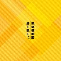 Carrés géométriques jaunes abstraits qui se chevauchent avec le motif de lignes diagonales et fond. vecteur