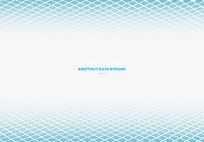 Modèle abstrait bleu motif carré perspective fond blanc avec espace de copie. Formes géométriques. vecteur