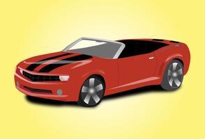 Voiture de sport convertible vecteur