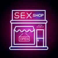 Sex Shop Now Enseigne Au Néon. Prêt pour votre conception, carte de voeux, bannière. Vecteur