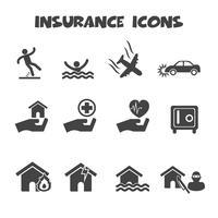 symbole d'icônes d'assurance vecteur