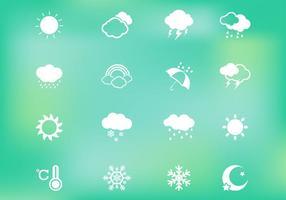 Vecteur d'icônes météorologiques
