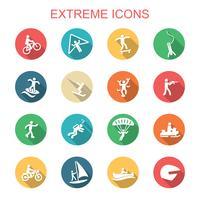 icônes d'ombre extrême vecteur