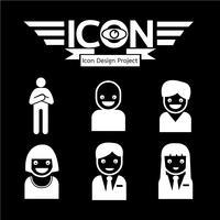 signe de symbole icône personnes vecteur
