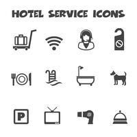 icônes de service hôtelier