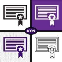 Certificat icône symbole signe