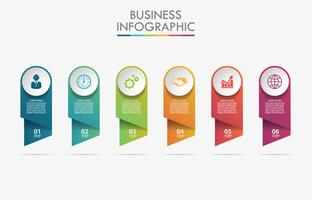 Visualisation de données commerciales. icônes infographiques timeline conçus pour le modèle abstrait.