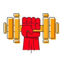 Logo pour le gymnase de poids lourd ou de fitness, logo vectoriel.