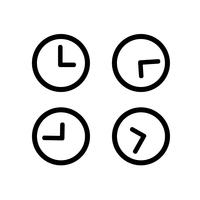 Signe symbole icône horloge vecteur
