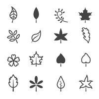 symbole d'icônes de feuille vecteur