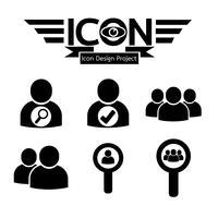 signe de symbole icône personnes