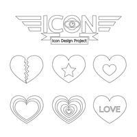 Signe de symbole icône coeur
