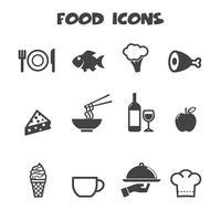 symbole d'icônes de nourriture vecteur