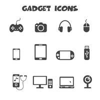 symbole d'icônes de gadget vecteur