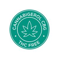 Cannabigerol CBG. Icône THC gratuit.