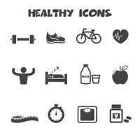 symbole des icônes saines vecteur