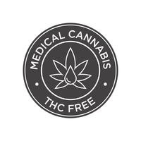 Cannabis médical. Icône THC gratuit. vecteur
