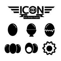 Signe symbole icône oeuf vecteur