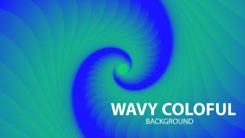 Abstrait bleu ondulé vecteur