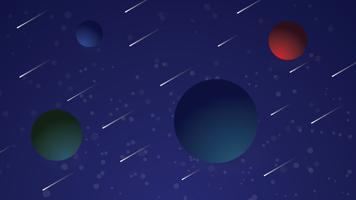 Fond illustration galaxie vecteur
