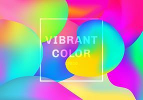 3D liquide ou fluide formes éléments dégradés fond de couleur vibrante. vecteur