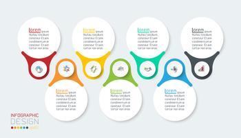 Sept barres infographiques verticales. vecteur