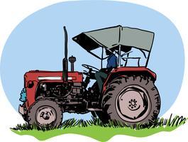 Illustration vectorielle tracteur vecteur
