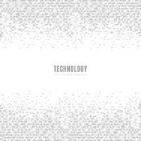 Carrés géométriques blancs et gris abstraites de fond et de la texture avec un espace pour le texte. Style de la technologie. Grille mosaïque. vecteur