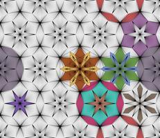 Abstrait géométrique sans soudure sur les arts graphiques vectoriels. vecteur