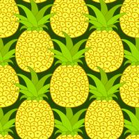 Modèle sans couture d'ananas. Fond tropical. Illustration vectorielle.Prêt pour votre design, carte de voeux