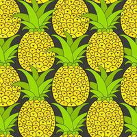 Modèle sans couture d'ananas. Fond tropical. Illustration vectorielle.Prêt pour votre design, carte de voeux vecteur