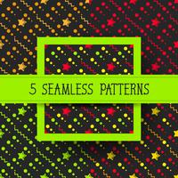 Star Set Seamless Pattern, étoiles dessinées à la main esquissée Doodle, illustration vectorielle prêt pour votre conception, carte de voeux