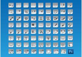 Icônes gratuites d'outils de photoshop vecteur